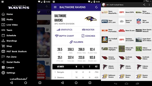 Android 5 Ways to Stream Live Baltimore Ravens Football