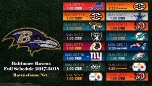 Baltimore Ravens Football Schedule 2017